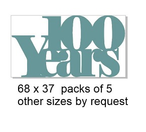 100 years 68 x 37- War  pack of 5
