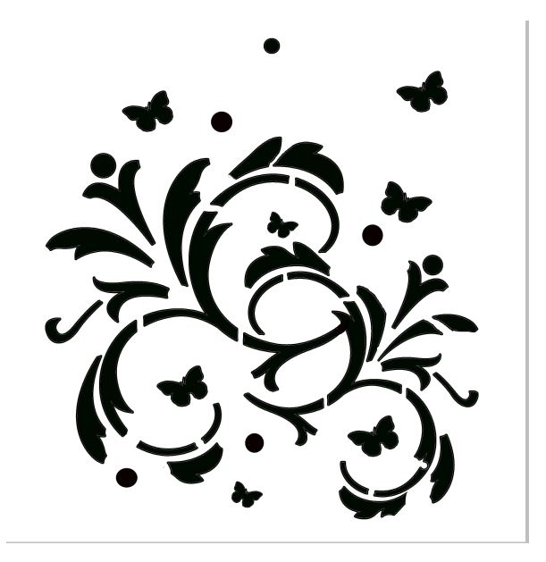 Mini Stencils swirls and butterflies  100 x 100mm min buy 5 pric