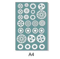 Cogs A4 sheet, Made in australia,Min buy 3