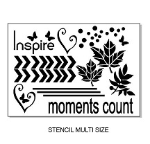 Inspire,leaves,Stencil,multi sizes available