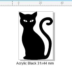 Acrylic black acrylic black 32 x 45 pack of 5