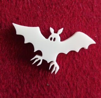 Bat Brooch or earring size acrylics see drop down box for orderi