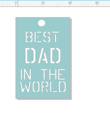 best dad  in the world tag 40 x 60.mm pack of 10