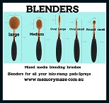 Blending brushes, Use drop ,Acrylic ,each  down box for size req
