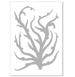 Seaweed, coral2 stencil   Min buy 3,Australian made,