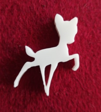 Deer Brooch or earring size acrylics see drop down box for order