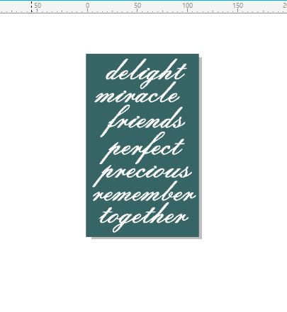 Delight, miracle, friends, words 110 x 180mm min buy 3