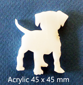 Puppy,Dog Acrylic  50 x 35mm Acrylic Pack of 5 .