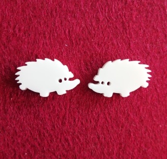 Echidna Brooch or earring size acrylics see drop down box for or