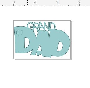 Grand dad tag pack of 10 52 x 35 mm