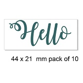 Hello, card making, Pack of 10 bulk