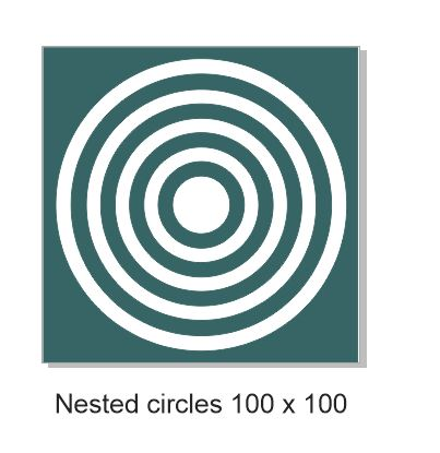 Nested circles 100 x100.mm min buy 3