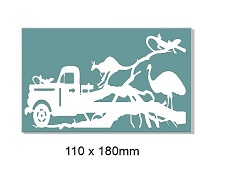 Australiana old car,animals,kangaroo,110 x 180mm min buy 3