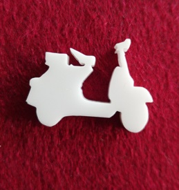 Scooter Brooch or earring size acrylics see drop down box for or