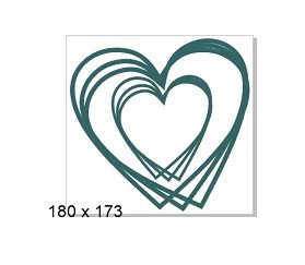 Heart Scribble frames 180 x 173 mm Min buy 3