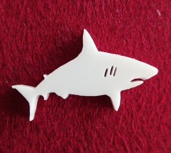 Shark Brooch or earring size acrylics see drop down box for orde