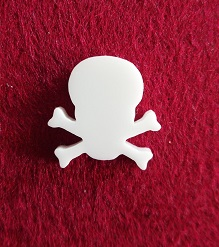 Skull Brooch or earring size acrylics see drop down box for orde