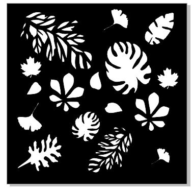 Stencil Multiple leaves, min buy 3 Multiple sizes drop down box