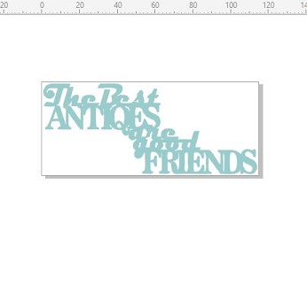 The best antiques are good friends BULK PACK 5 113x48 MM