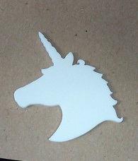Unicorn White Acrylic , Pk 5 - 65 x 5 mm add a brooch clip  for