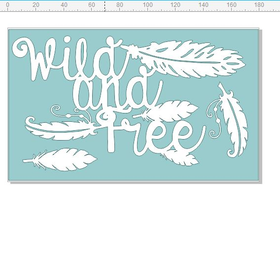 Wild and free 110 x 180mm, boho, feathers,  Min buy 3