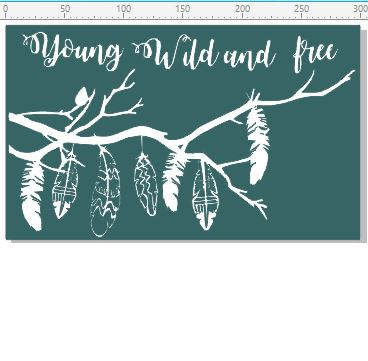 Young wild and free  300 x 180mm  Min buy 3